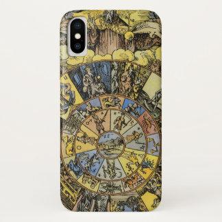 Vintage Astrology, Renaisance Zodiac Wheel, 1555 iPhone X Case
