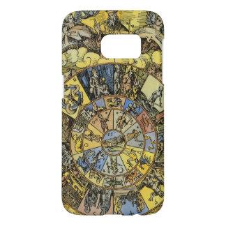 Vintage Astrology, Renaisance Zodiac Wheel, 1555 Samsung Galaxy S7 Case
