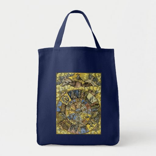 Vintage Astrology, Renaisance Zodiac Wheel, 1555 Tote Bag