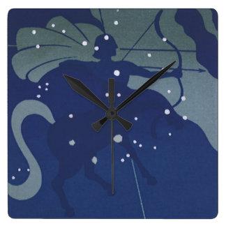 Vintage Astrology Sagittarius Constellation Zodiac Wallclocks