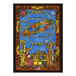 Vintage Astronomer Claudius Ptolemy, Celestial Personalized Announcement