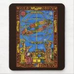 Vintage Astronomer Claudius Ptolemy, Celestial Mouse Pad