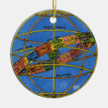 Vintage Astronomer Claudius Ptolemy, Celestial Christmas Ornaments