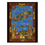 Vintage Astronomer Claudius Ptolemy, Celestial Post Card