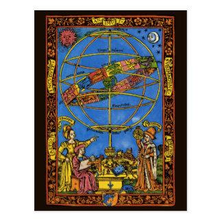 Vintage Astronomer Claudius Ptolemy Celestial Post Card