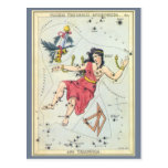 Vintage Astronomy, Andromeda Constellation Stars Post Card