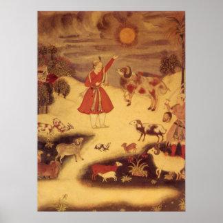 Vintage Astronomy, Antique Asian Celestial Art Poster