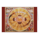 Vintage Astronomy, Antique Copernican Solar System Greeting Card