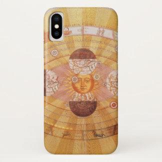 Vintage Astronomy, Antique Copernican Solar System iPhone X Case