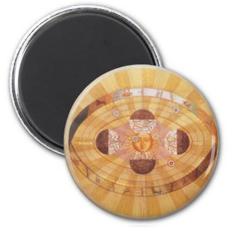 Vintage Astronomy, Antique Copernican Solar System Fridge Magnet