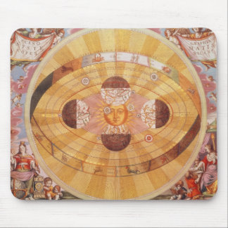 Vintage Astronomy, Antique Copernican Solar System Mouse Pad