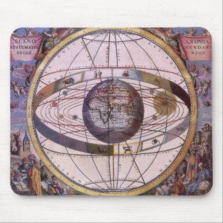 Vintage Astronomy Antique Ptolemaic Solar System Mousepads