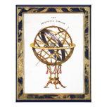 Vintage Astronomy, Artificial Sphere, Earth, Globe Custom Announcement
