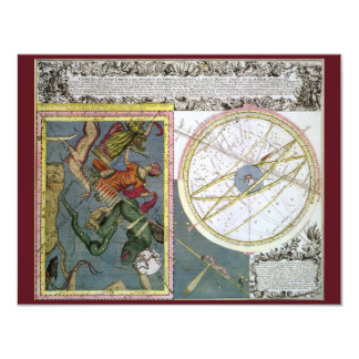 Vintage Astronomy Celestial, Comet of 1742 Card
