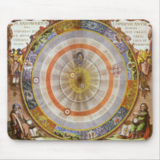 Vintage Astronomy Celestial Copernican Planisphere Mousepad