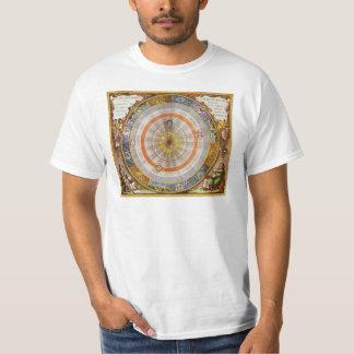 Vintage Astronomy Celestial Copernican Planisphere Tee Shirt