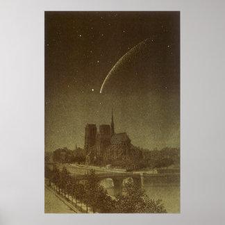 Vintage Astronomy, Celestial, Donati Comet, 1858 Poster