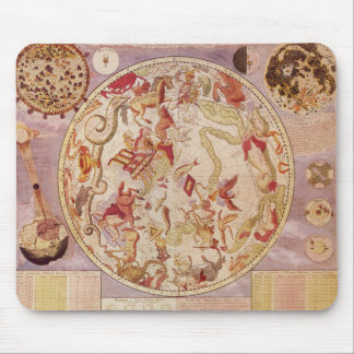 Vintage Astronomy, Celestial Map by Carel Allard Mouse Pad