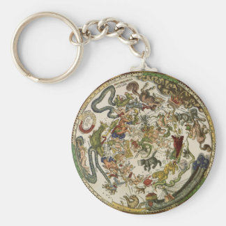 Vintage Astronomy, Celestial Map by Peter Apian Key Chains