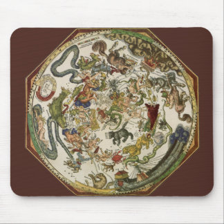 Vintage Astronomy Celestial Map by Peter Apian Mouse Pad
