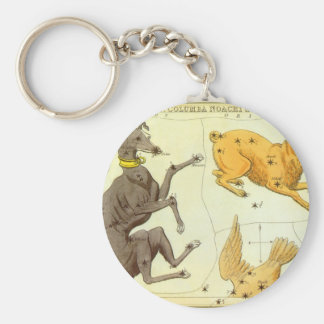 Vintage Astronomy, Celestial Map Star Chart in Sky Key Chains