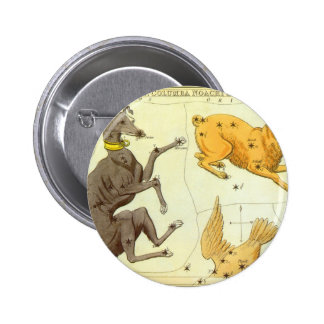 Vintage Astronomy, Celestial Map Star Chart in Sky Pinback Button