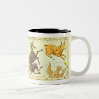Vintage Astronomy, Celestial Map Star Chart in Sky Two-Tone Coffee Mug