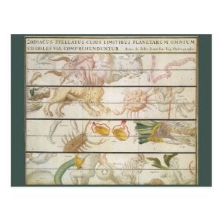 Vintage Astronomy Celestial Map Zodiacus Stellatus Post Cards
