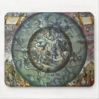 Vintage Astronomy Celestial Northern Constellation Mouse Pad