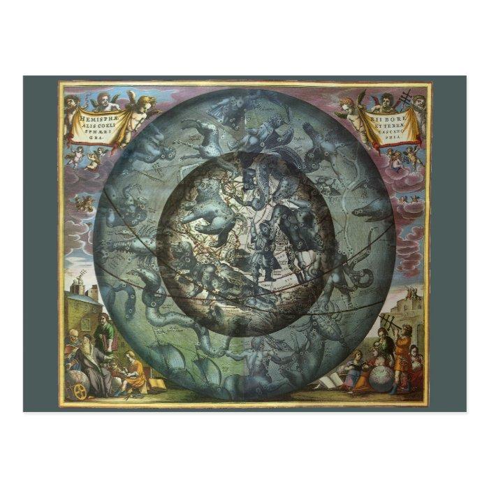 Vintage Astronomy Celestial Northern Constellation Postcard