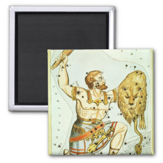 Vintage Astronomy, Celestial, Orion Constellation 2 Inch Square Magnet