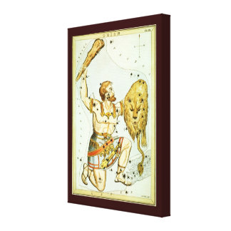 Vintage Astronomy, Celestial, Orion Constellation Canvas Print