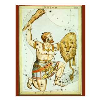 Vintage Astronomy, Celestial, Orion Constellation Post Card
