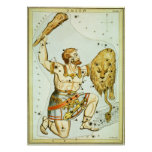 Vintage Astronomy, Celestial, Orion Constellation Posters