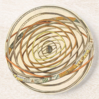 Vintage Astronomy Celestial Planet Planetary Orbit Coaster