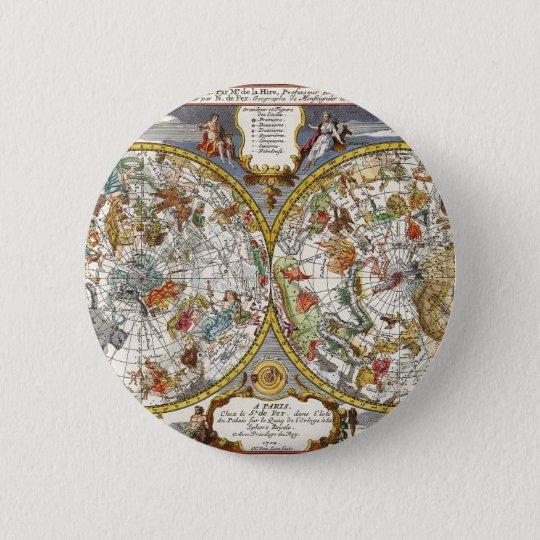 Vintage Astronomy, Celestial Planisphere Map Button