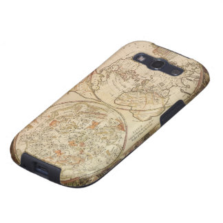 Vintage Astronomy, Celestial Planisphere Map Galaxy S3 Cases
