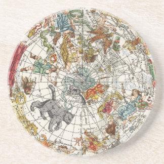 Vintage Astronomy, Celestial Planisphere Map Coaster