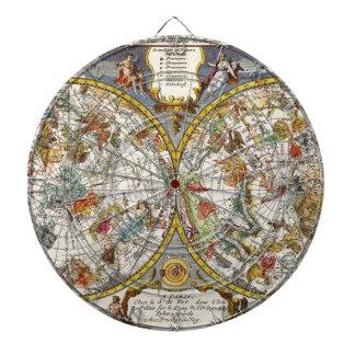 Vintage Astronomy, Celestial Planisphere Map Dartboards