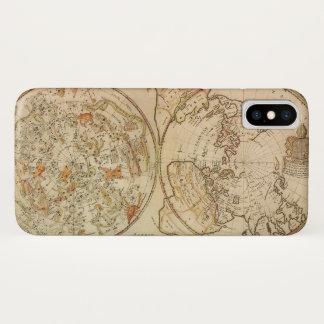 Vintage Astronomy, Celestial Planisphere Map iPhone X Case