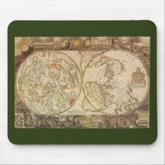 Vintage Astronomy, Celestial Planisphere Map Mouse Pad
