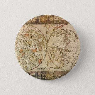 Vintage Astronomy, Celestial Planisphere Map Pinback Button