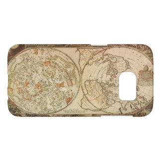 Vintage Astronomy, Celestial Planisphere Map Samsung Galaxy S7 Case