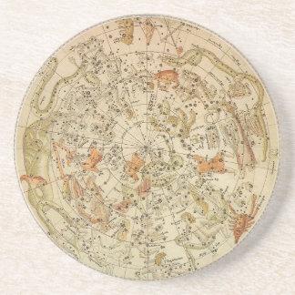 Vintage Astronomy, Celestial Planisphere Map Sandstone Coaster