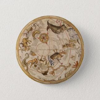 Vintage Astronomy, Celestial Planisphere Star Map Button