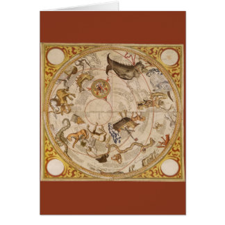 Vintage Astronomy, Celestial Planisphere Star Map Card