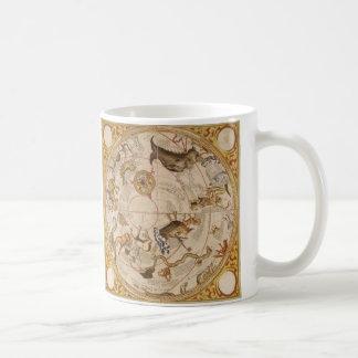 Vintage Astronomy, Celestial Planisphere Star Map Coffee Mug