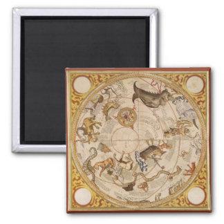Vintage Astronomy, Celestial Planisphere Star Map Magnet