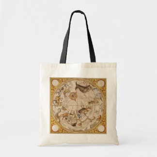 Vintage Astronomy, Celestial Planisphere Star Map Tote Bag