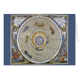 Vintage Astronomy Celestial Ptolemaic Planisphere Greeting Card